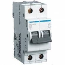 Автоматический выключатель Hager 2P 4,5kA C-6A 2M MY206 2 полюса