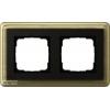 Рамка 2 местная GIRA ClassiX цвет Бронза вставка антрацит 0212622